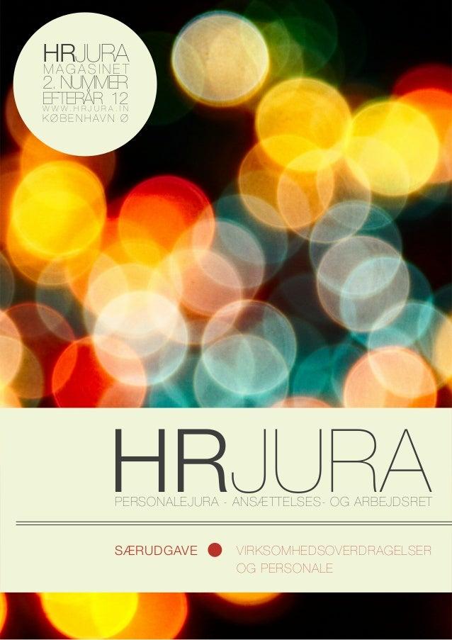 HR JURA Magasinet, Virksomhedsoverdragelser og personale