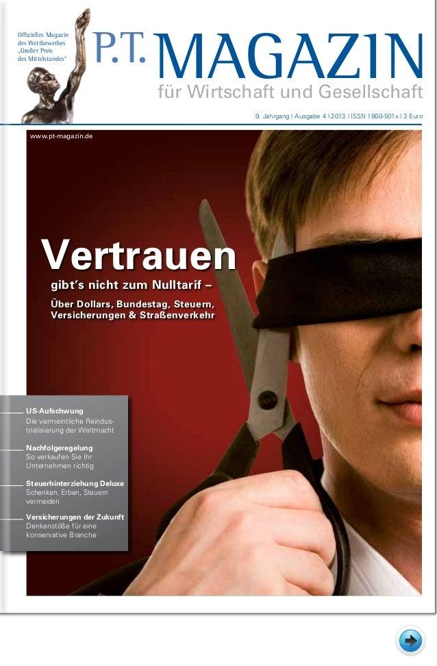 Vertrauengibt's nicht zum Nulltarif – Über Dollars, Bundestag, Steuern, Versicherungen & Straßenverkehr Offizielles Magazi...