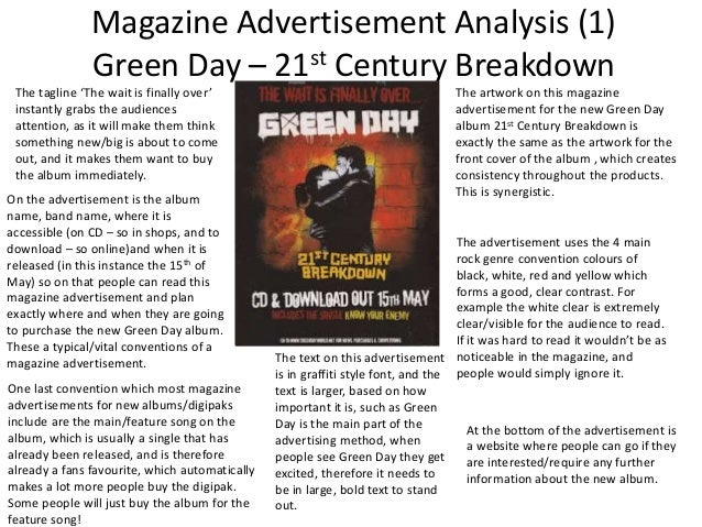 Magazine advertisement analysis essay