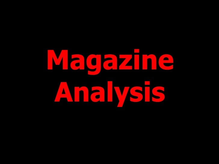 MagazineAnalysis