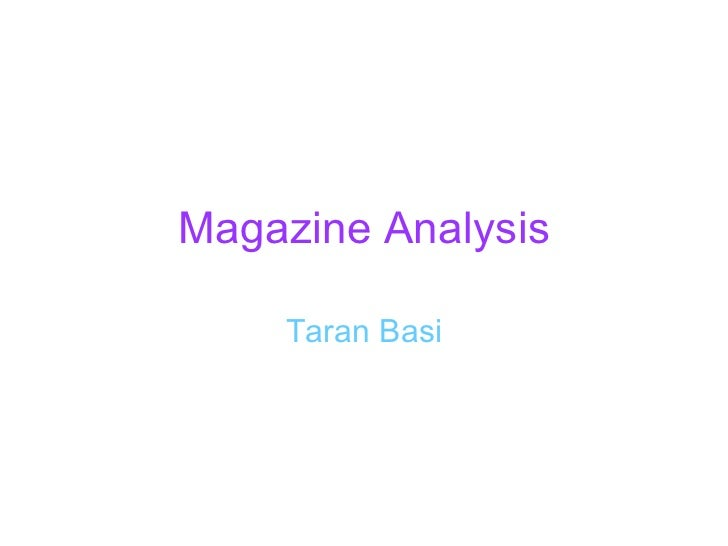 Magazine Analysis Taran Basi