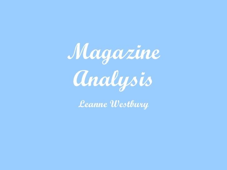 Magazine Analysis Leanne Westbury
