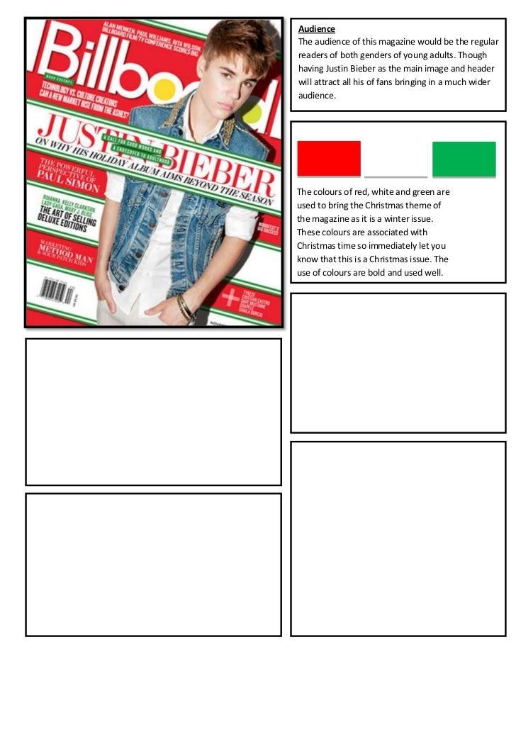 Magazine analysis bieber
