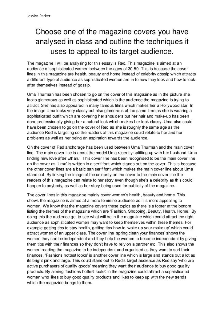 example essay article for school magazine