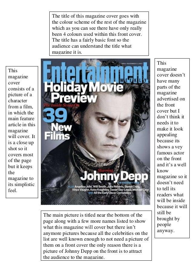 Magazine analysis film 1