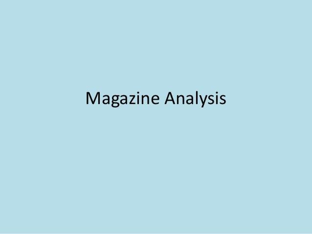 Magazine Analysis