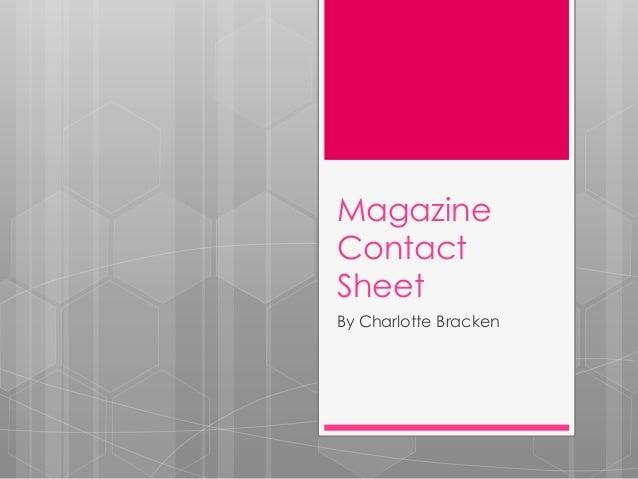 MagazineContactSheetBy Charlotte Bracken