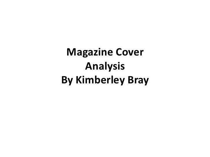 Magazine Cover     AnalysisBy Kimberley Bray
