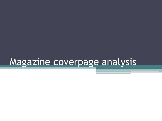 Magazine coverpage analysis