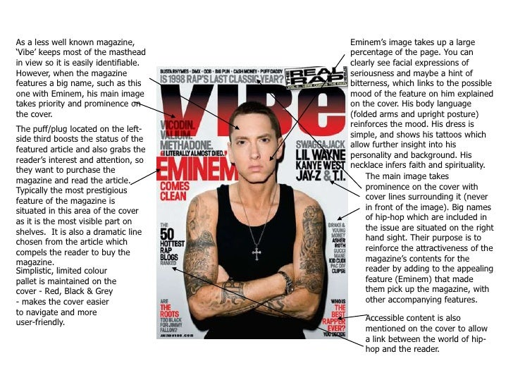 As a less well known magazine, 'Vibe' keeps most of the masthead in view so it is easily identifiable. However, when the m...