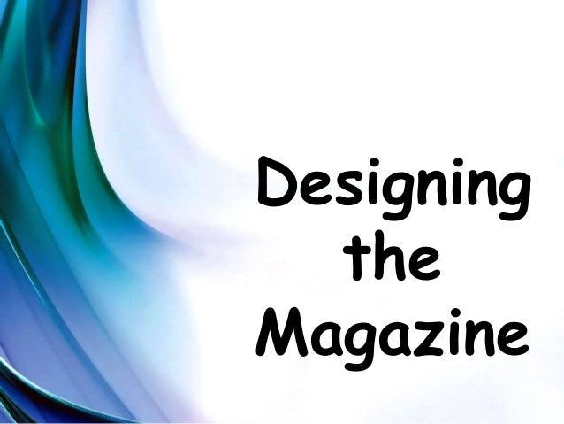 how to become a magazine designer