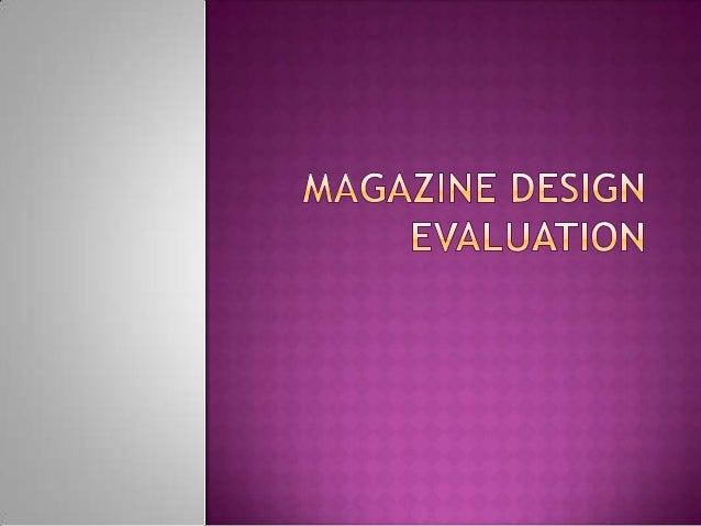 Magazine Evaluation PowerPoint