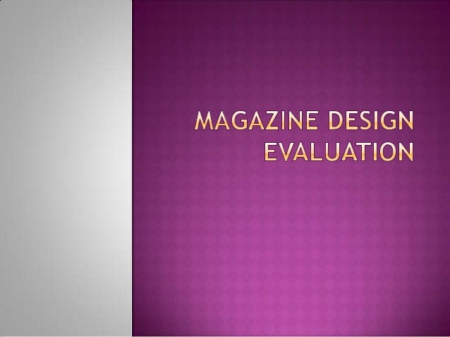 Magazine design evaluation