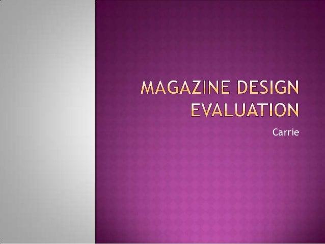 Magazine design evaluationnn