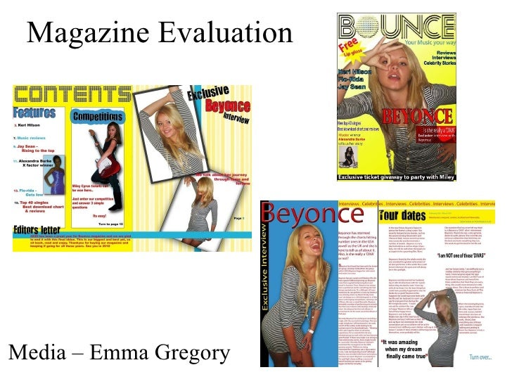 Magazine Evaluation Media – Emma Gregory