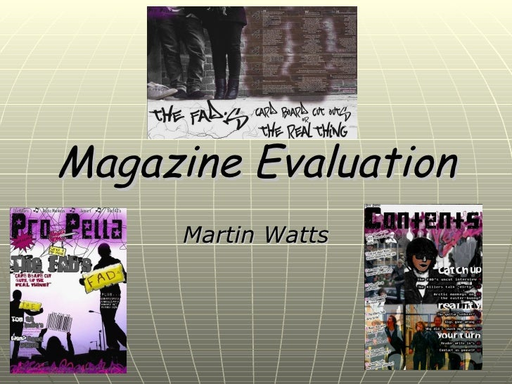 Magazine Evaluation Upload Version