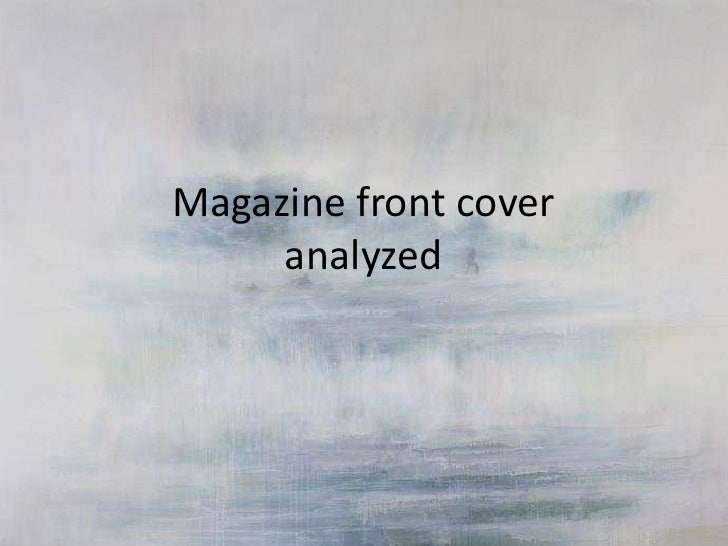 Magazine front cover     analyzed