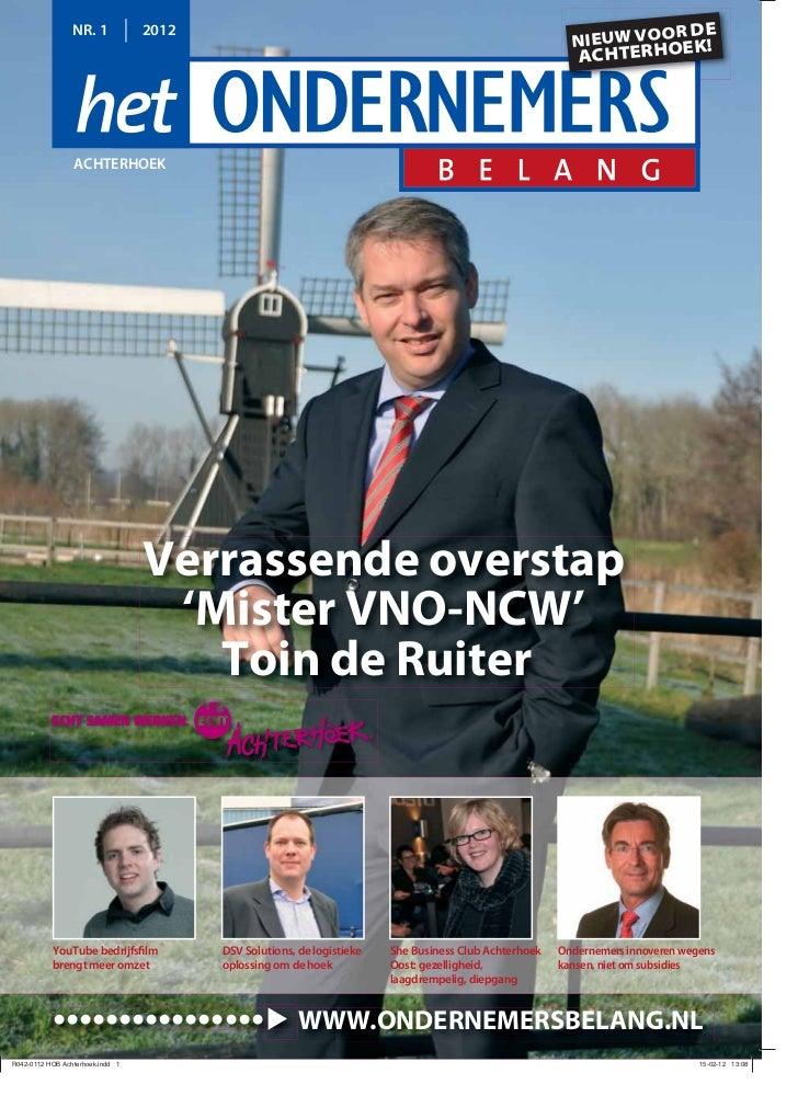 Magazine Het Ondernemersbelang Achterhoek 01 2012