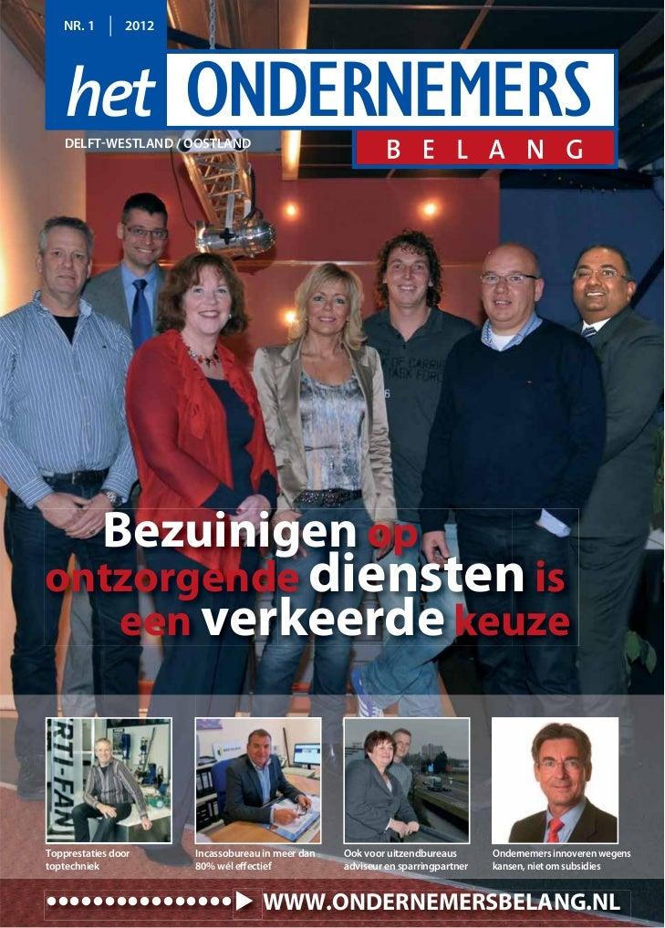 Magazine Het Ondernemersbelang Delft Westland Oostland 01 2012
