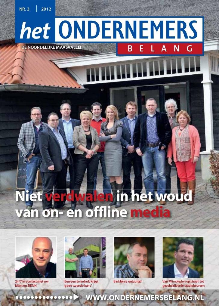 Magazine Het Ondernemersbelang de Noordelijke Maasvallei  0312