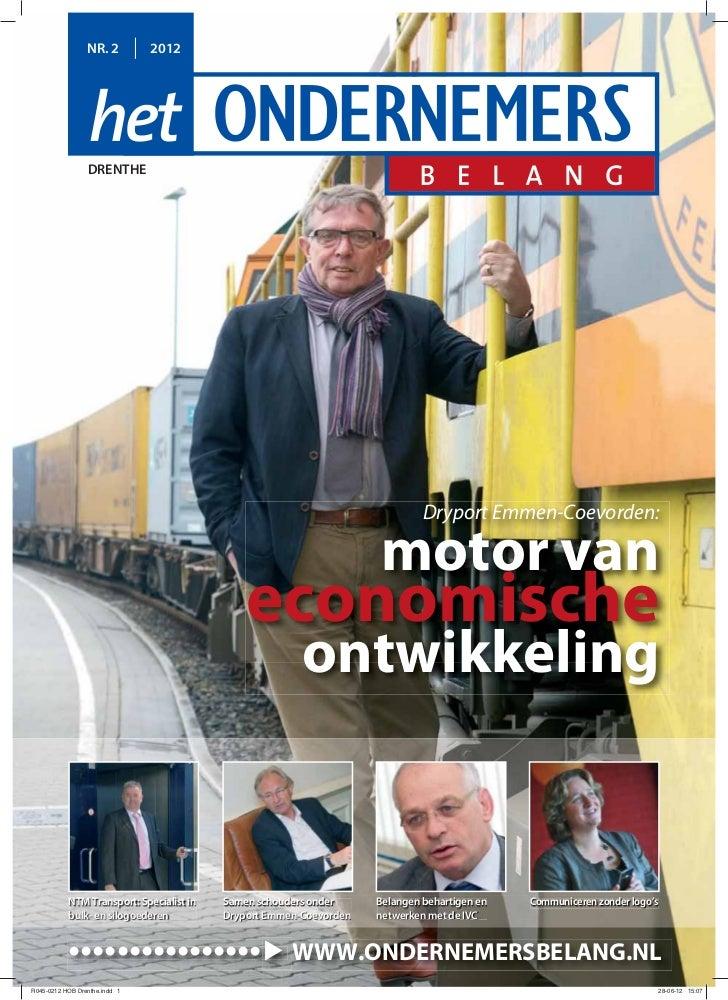 NR. 2        2012    DRENTHE                                                                  Dryport Emmen-Coevorden:    ...