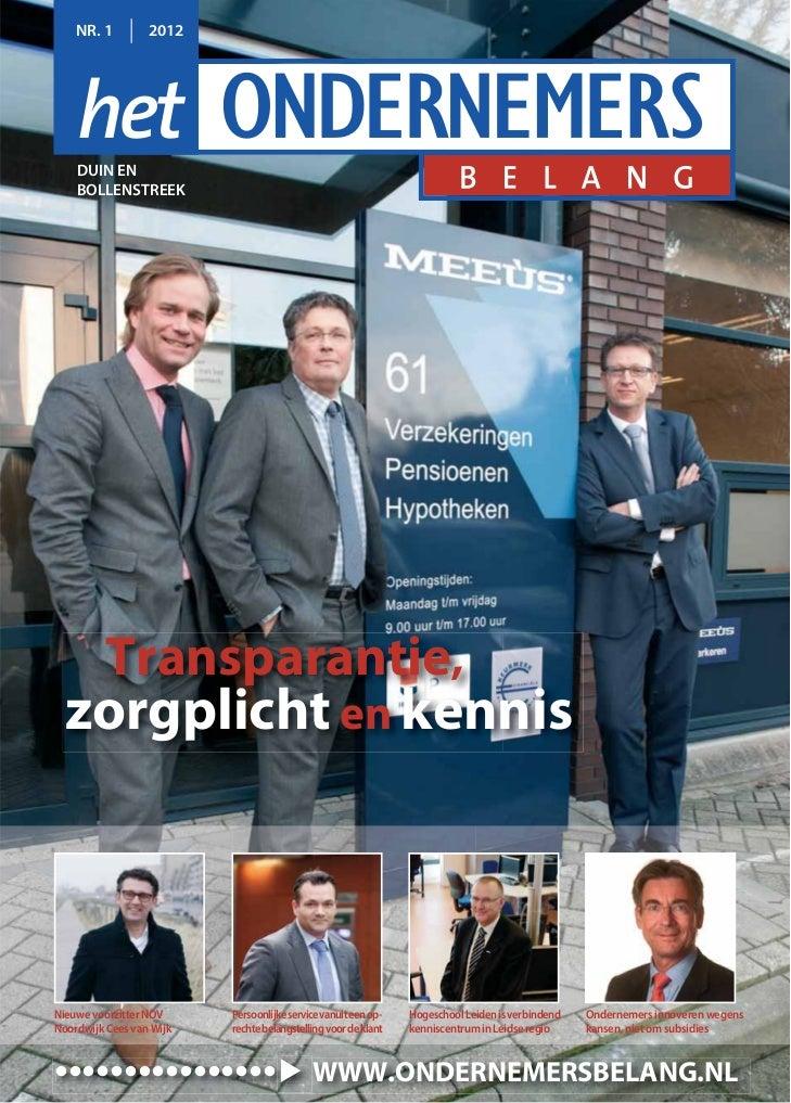 Magazine Het Ondernemersbelang Duin en Bollenstreek 01 2012
