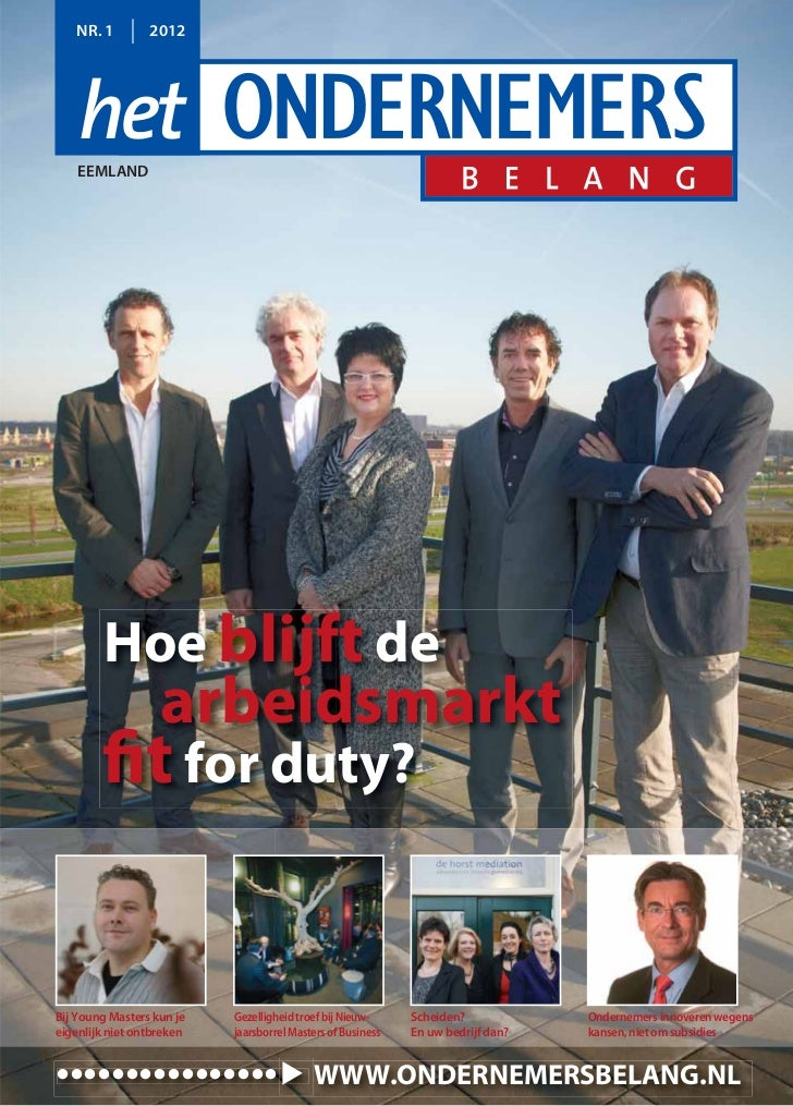 NR. 1         2012    EEMLAND        Hoe blijft de                   arbeidsmarkt        fit for duty?Bij Young Masters ku...