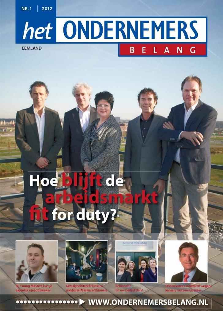 Magazine Het Ondernemersbelang Eemland  01 2012