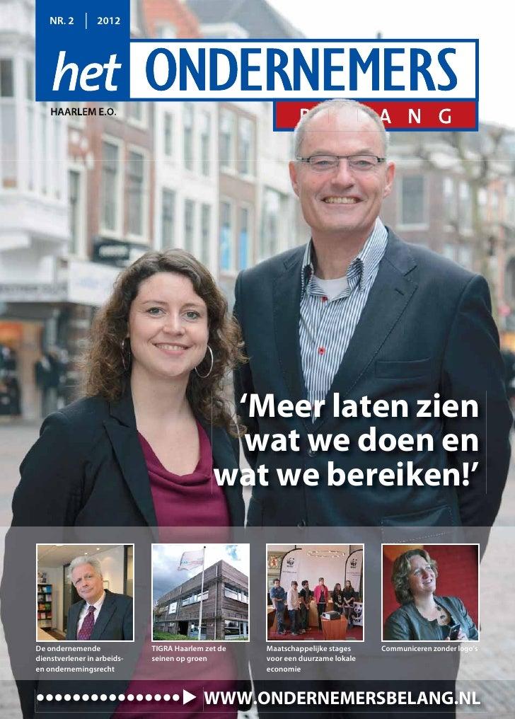 Magazine Het Ondernemersbelang Haarlem 0212