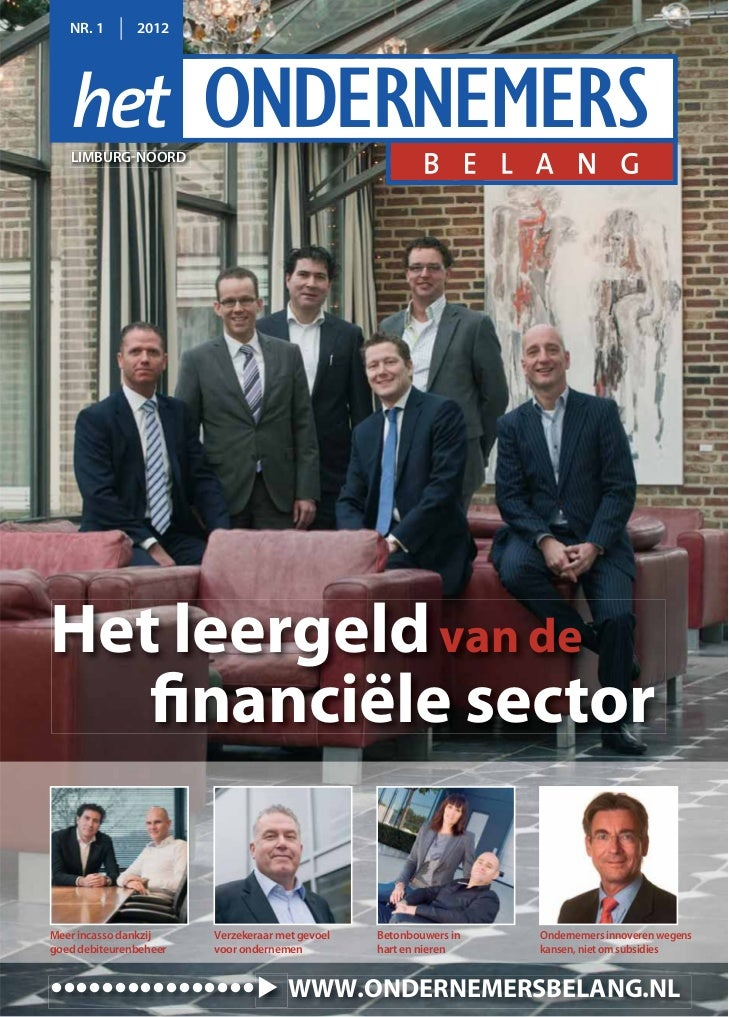 Magazine Het Ondernemersbelang Limburg-Noord  01 2012