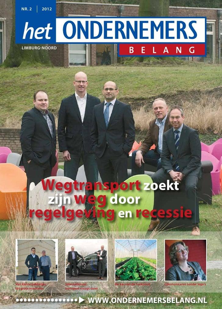 NR. 2         2012    LIMBURG-NOORD                Wegtransport zoekt                       zijn weg door        regelgevi...
