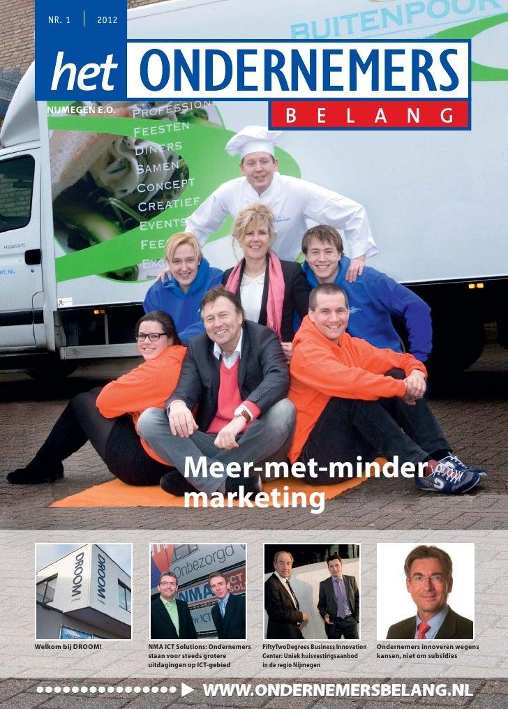 Magazine het ondernemersbelang nijmegen  01 2012