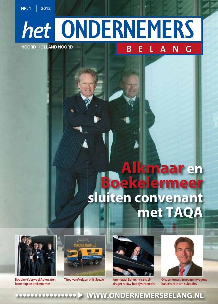 NR. 1        2012   NOORD-HOLLAND NOORD                                                        Alkmaar en                 ...