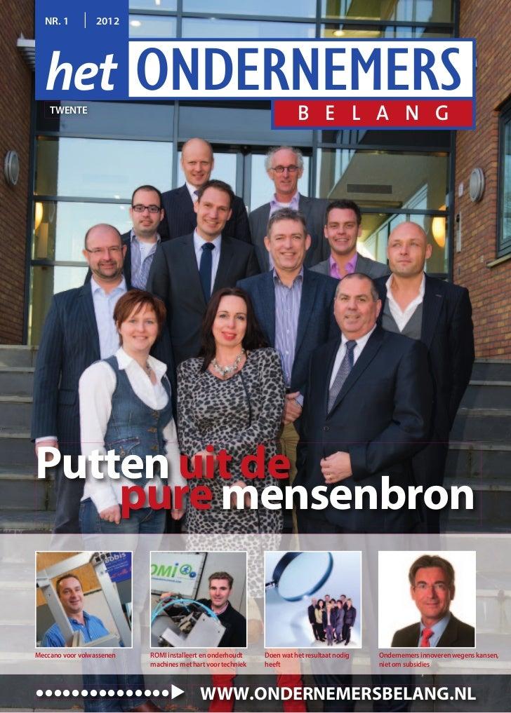 Magazine Het Ondernemersbelang Twente  01 2012