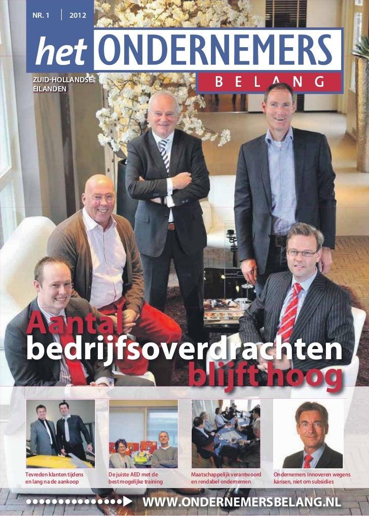 Magazine Het Ondernemersbelang Zuid-Hollandse Eilanden  01 2012