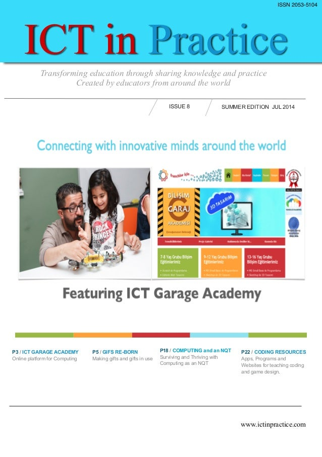 ICT in Practice Technology and Education Online Magazine Issue 8
