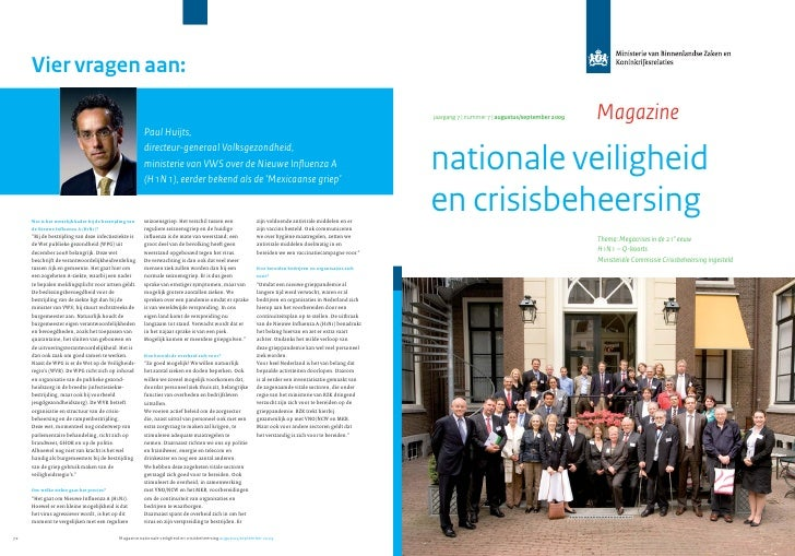 Magazine Nationale Veiligheid En Crisisbeheersing Aug Sept 2009