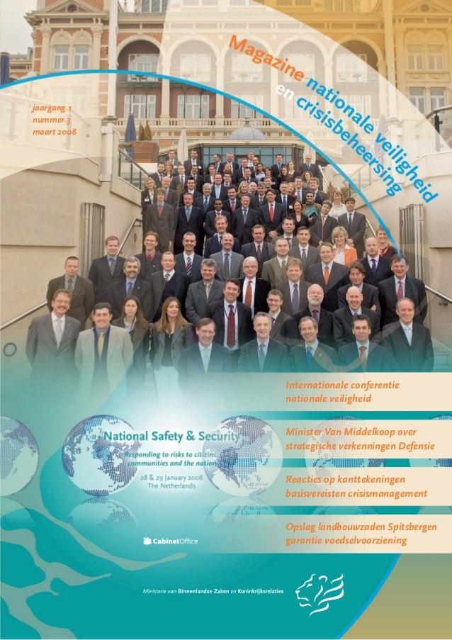 jaargang 1nummer 3maart 2008Internationale conferentienationale veiligheidMinister Van Middelkoop overstrategische verkenn...
