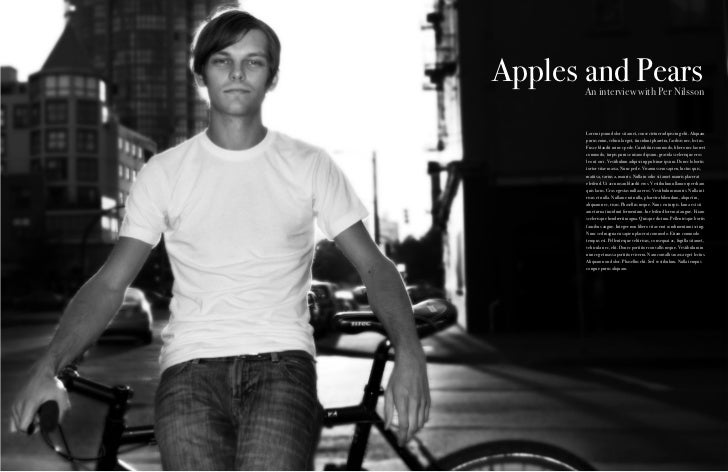"""""""Apples and Pears"""" - 5 page Magazine Spread"""