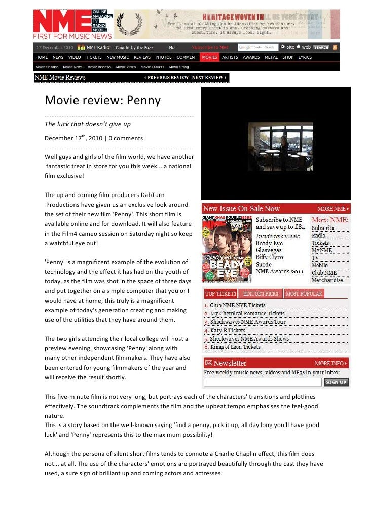 Movie review: Penny<br />........................................................................................<br />The...