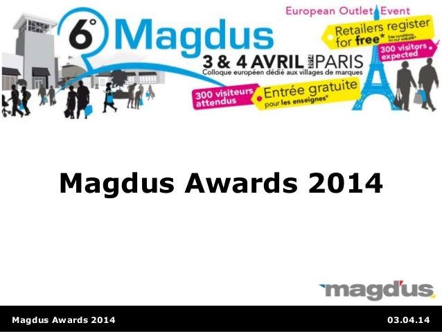 Magdus Awards 2014 03.04.14 Magdus Awards 2014