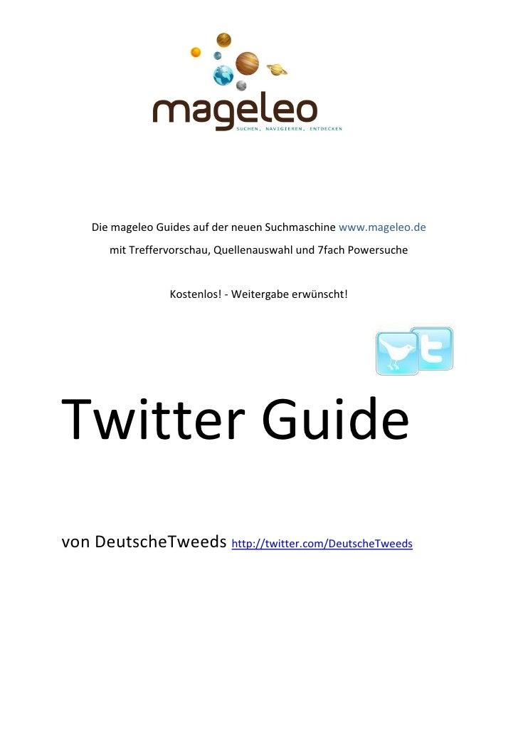 Die mageleo Guides auf der neuen Suchmaschine www.mageleo.de        mit Treffervorschau, Quellenauswahl und 7fach Powersuc...