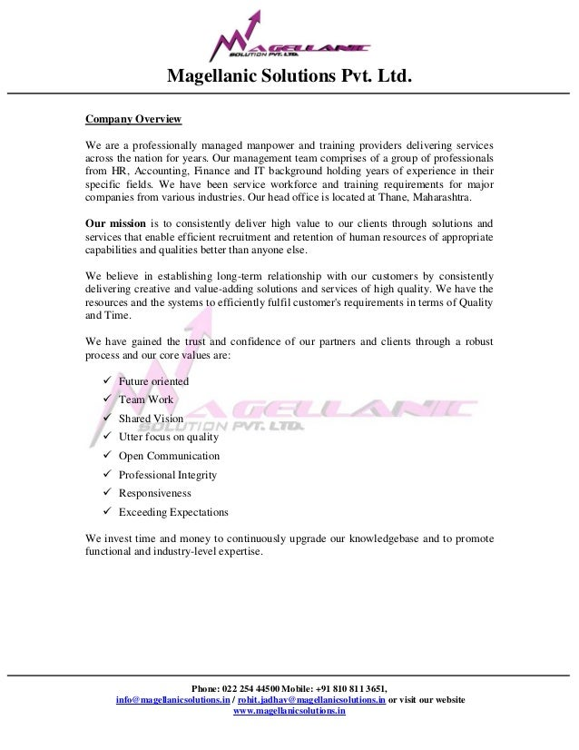 Magellanic Solutions Pvt. Ltd.Phone: 022 254 44500 Mobile: +91 810 811 3651,info@magellanicsolutions.in / rohit.jadhav@mag...