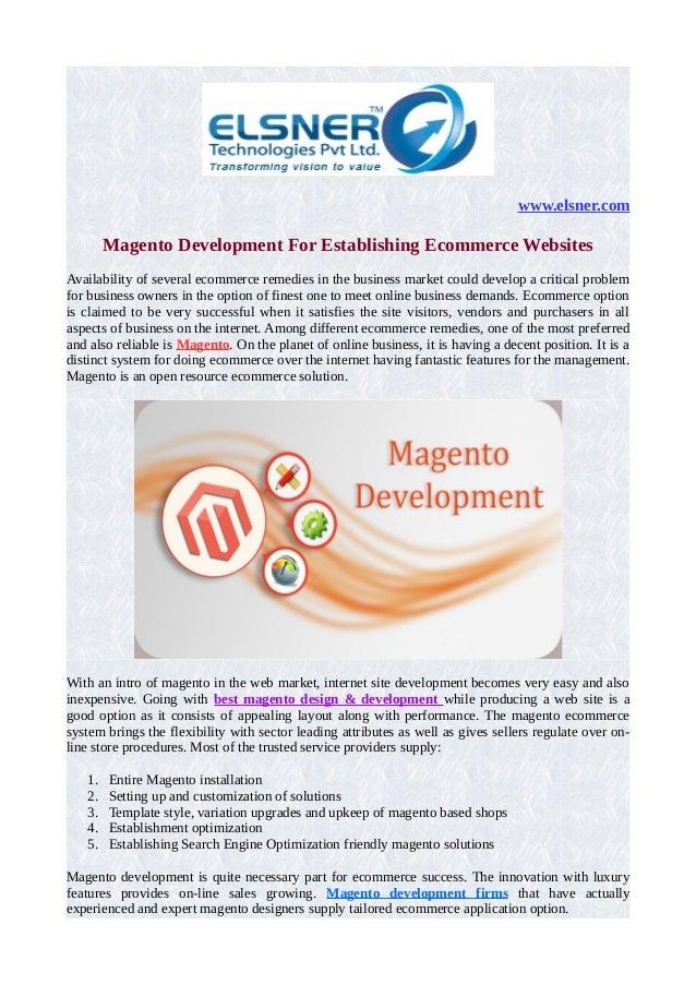 Magento development for establishing ecommerce websites