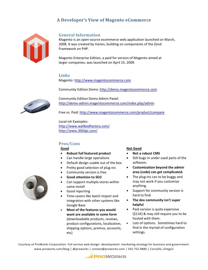 Magento Ecommerce Handout
