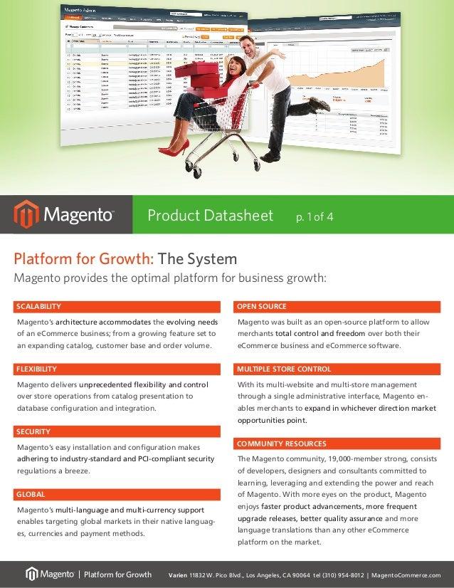 Varien 11832 W. Pico Blvd., Los Angeles, CA 90064 tel (310) 954-8012 | MagentoCommerce.com Platform for Growth Platform fo...