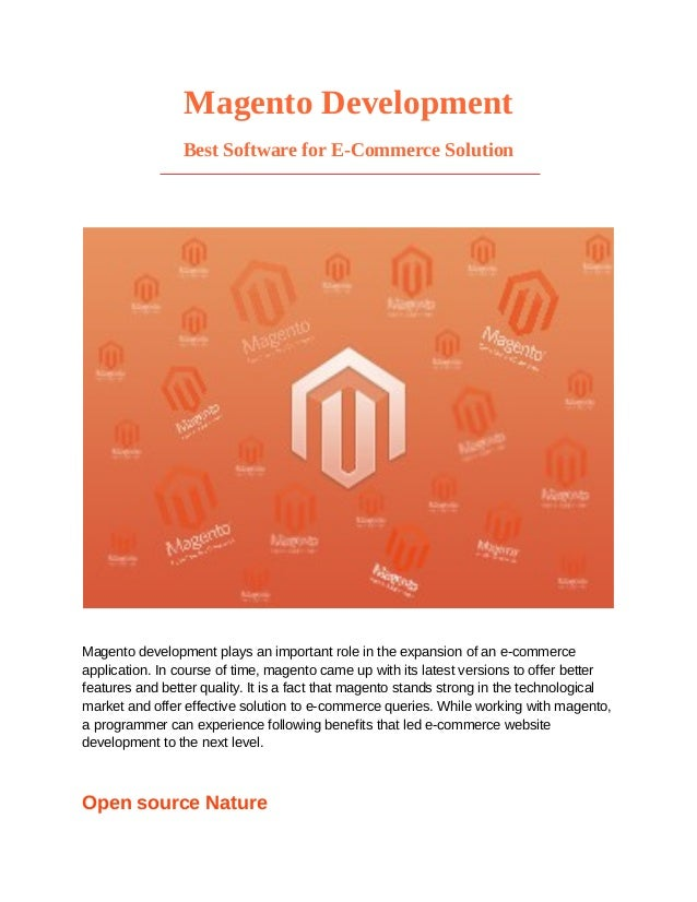 Magento development   best software for e-commerce solution