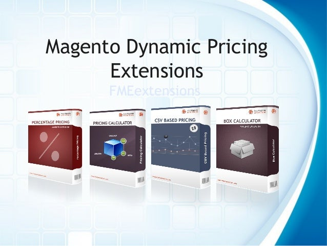 Magento Dynamic Pricing Extensions FMEextensions