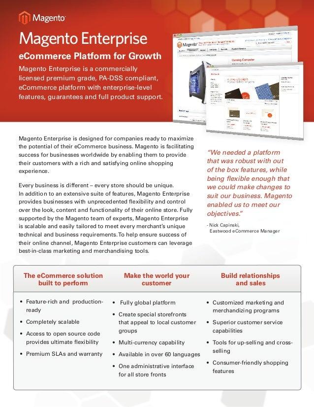 Magento Enterprise Feature List
