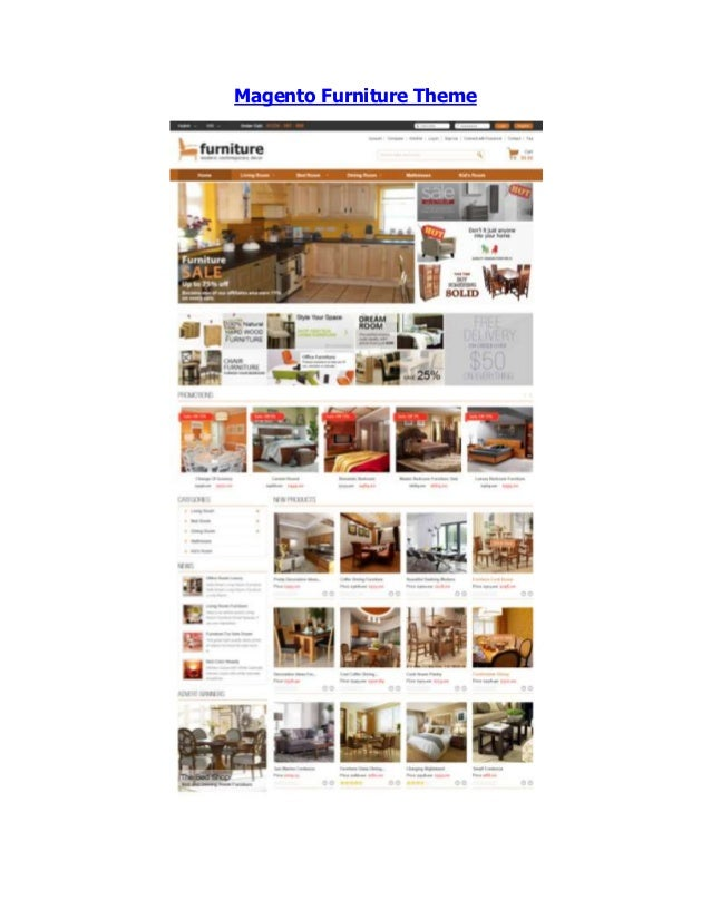 Magento Furniture Theme   Magento Interior Theme